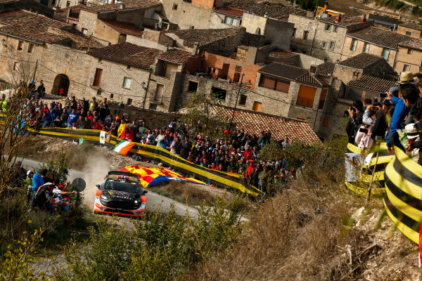 2017 FIA World Rally Championship, Round 11, Rally RACC Catalunya / Rally de España, 5-8 October, 2017, Mads Ostberg, Ford, action, Worldwide Copyright: LAT/McKlein