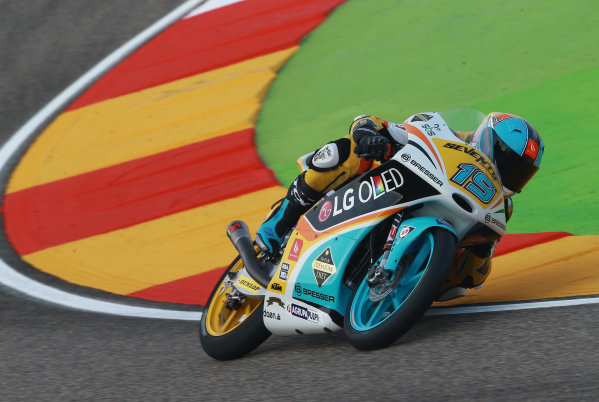 2017 Moto3 Championship - Round 14 Aragon, Spain. Saturday 23 September 2017 Gabriel Rodrigo, RBA Racing Team World Copyright: Gold and Goose / LAT Images ref: Digital Image 13999