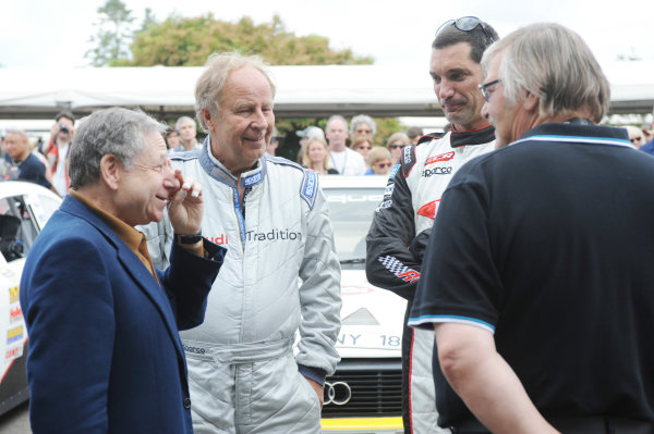 2014 Goodwood Festival of Speed Goodwood Estate, West Sussex, England 26th - 29th June 2014 Jean Todt, Hannu Mikkola and Max Papis.  World Copyright: Jeff Bloxham/LAT Photographic ref: Digital Image DSC_7839