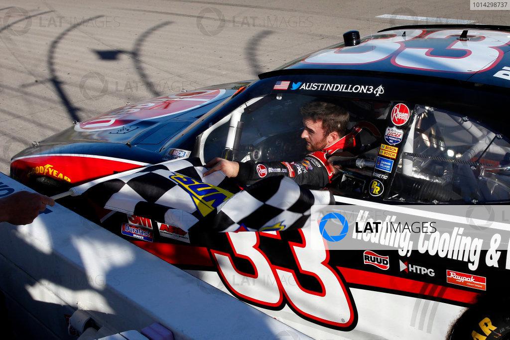 6-7 March, 2015, Las Vegas, Nevada USA Austin Dillon celebrates his win ?2015, Russell LaBounty LAT Photo USA