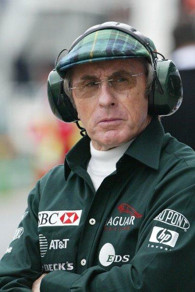 Sir Jackie Stewart (GBR)Australian Grand Prix Qualifying, Albert Park, Melbourne, 2 March 2002DIGITAL IMAGE