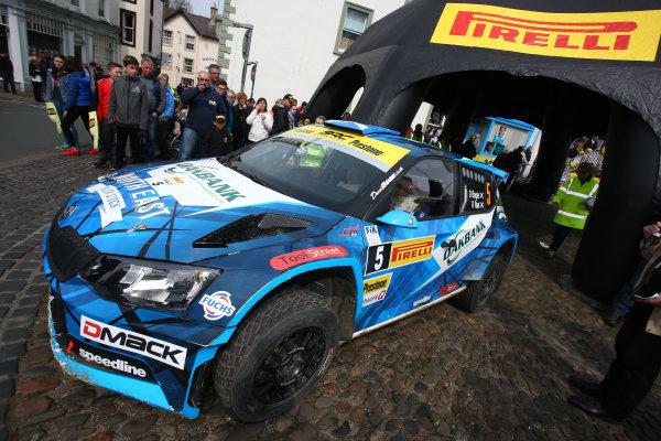 2017 Prestone MSA British Rally Championship,  Pirelli International Rally, Carlisle. 29th - 30th April 2017. David Bogie / Kevin Rae Skoda Fabia R5. World Copyright: JEP / LAT Images.