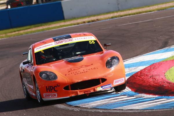 2017 Ginetta GT4 Supercup, Donington Park, 15th-16th April 2017 Ruben Del Sarte HHC Motorsport Ginetta Junior World copyright. JEP/LAT Images