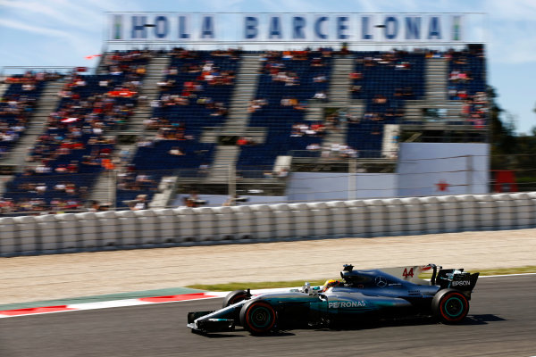 Circuit de Catalunya, Barcelona, Spain. Saturday 13 May 2017. Lewis Hamilton, Mercedes F1 W08 EQ Power+. World Copyright: Andy Hone/LAT Images ref: Digital Image _ONZ4858