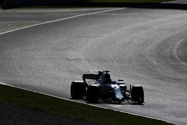 Circuit de Barcelona Catalunya, Barcelona, Spain. Friday 10 March 2017. Lance Stroll, Williams FW40 Mercedes.  World Copyright: Sam Bloxham/LAT Images ref: Digital Image _SLA0349