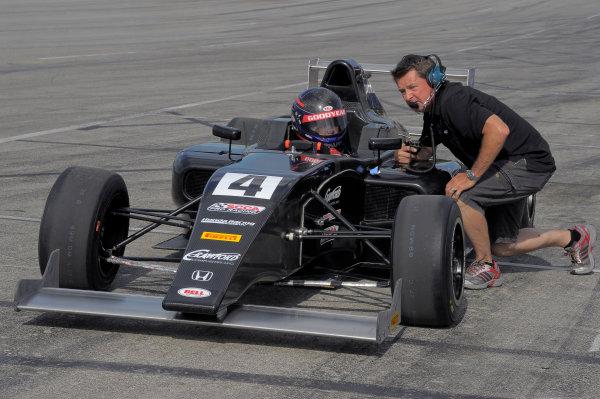 30 June-3 July, 2016, Lexington, Ohio USA #4 Michael Goodyear with former IndyCar driver and dad, Scott Goodyear ©2016, Dan R, Boyd LAT Photo USA