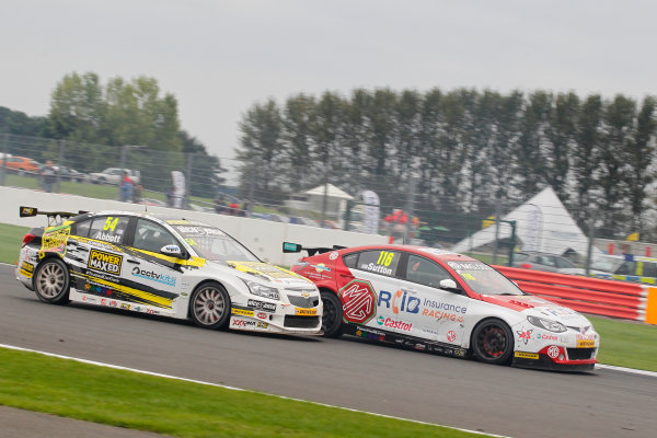 2016 British Touring Car Championship, Silverstone, 17th-18th September 2016, Ashley Sutton (GBR) MG Racing RCIB Insurance MG6  World Copyright. Jakob Ebrey/LAT Photographic.