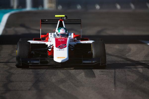2016 GP3 Series Test 5. Yas Marina Circuit, Abu Dhabi, United Arab Emirates. Wednesday 30 November 2016. Nirei Fukuzumi (JPN, ART Grand Prix)  Photo: Sam Bloxham/GP3 Series Media Service. ref: Digital Image _SLA1357