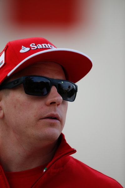 2014 F1 Pre Season Test 2 - Day 3 Bahrain International Circuit, Bahrain. Saturday 22 February 2014. Kimi Raikkonen, Ferrari. World Copyright: Glenn Dunbar/LAT Photographic. ref: Digital Image _W2Q4675