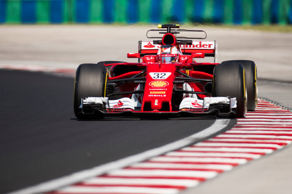 Hungaroring, Budapest, Hungary.  Tuesday 01 August 2017. Charles Leclerc, Ferrari SF70H. World Copyright: Joe Portlock/LAT Images  ref: Digital Image _R3I0282.CR2