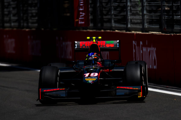 2017 FIA Formula 2 Round 4. Baku City Circuit, Baku, Azerbaijan. Friday 23 June 2017. Johnny Cecotto Jr. (VEN, Rapax)  Photo: Zak Mauger/FIA Formula 2. ref: Digital Image _54I9789