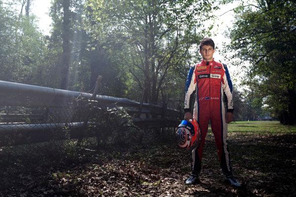 Autodromo Nazionale di Monza, Monza, Italy. Sunday 9th September 2012. Sunday Race 2.2012 GP3 Series Champion Mitch Evans (NZL, MW Arden) championship photo shoot. Portrait.World Copyright: Daniel Kalisz/LAT Photographic Ref: Digital Image IMG_6987.jpg