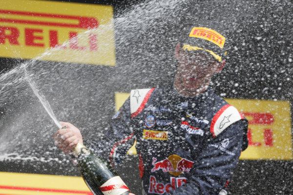 2015 GP2 Series Round 2. Circuit de Catalunya, Barcelona, Spain. Sunday 10 May 2015. Podium. Pierre Gasly (FRA, DAMS). Photo: Zak Mauger/GP2 Series Media Service. ref: Digital Image _L0U5919