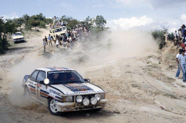 1983 World Rally Championship.Safari Rally, Kenya. 30 March-4 April 1983.Ari Vatanen/Terry Harryman (Opel Ascona 400), 1st position.World Copyright: LAT PhotographicRef: 35mm transparency 83RALLY04