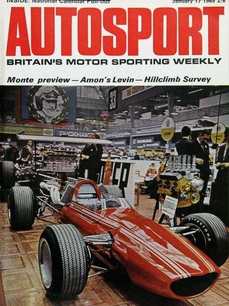 Cover of Autosport magazine, 17th January 1969