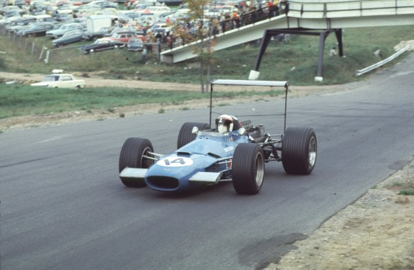 1968 Canadian Grand Prix.Mont-Tremblant, (St. Jovite), Quebec, Canada.20-22 September 1968.Jackie Stewart (Matra MS10 Ford) 6th position.Ref-68 CAN 29.World Copyright - LAT Photographic