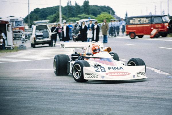 Bruno Pescia, March 752 BMW, gets very sideways.