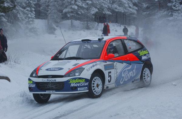 2002 World Rally ChampionshipUddeholm Swedish Rally, 1st-3rd February 2002.Colin McRae during the shakedown.Photo: Ralph Hardwick/LAT