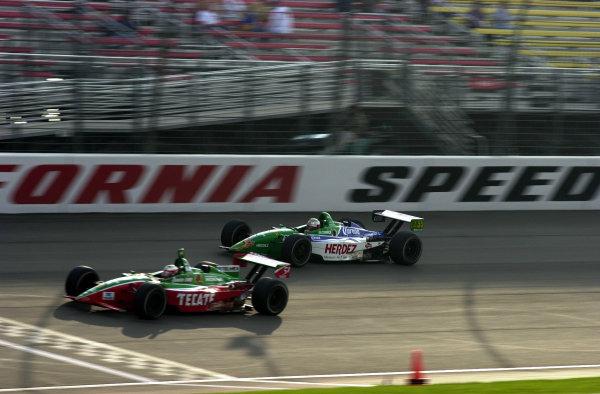 2002 Fontana CART, California Speedway, USA, 3 November, 2002Max Papis races Mario Dominguez-2002, Lesley Ann Miller, USALAT Photographic