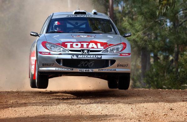 2002 World Rally Championship.Telstra Rally Australia, Perth. October 31st-November 3rd.Richard Burns during shakedown.Photo: Ralph Hardwick/LAT
