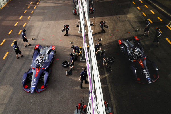 Sam Bird (GBR), Envision Virgin Racing, Audi e-tron FE05, in the pit lane