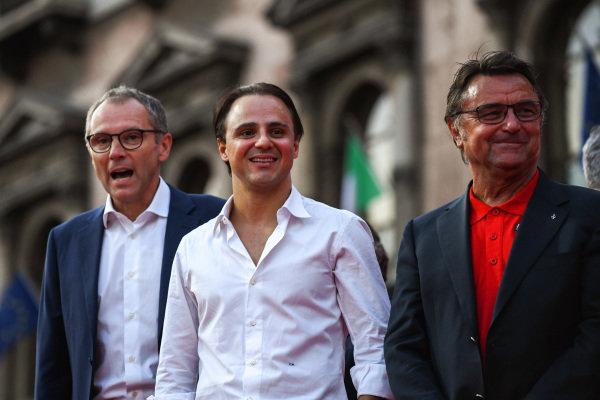 Stefano Domenicali, Felipe Massa, and René Arnoux