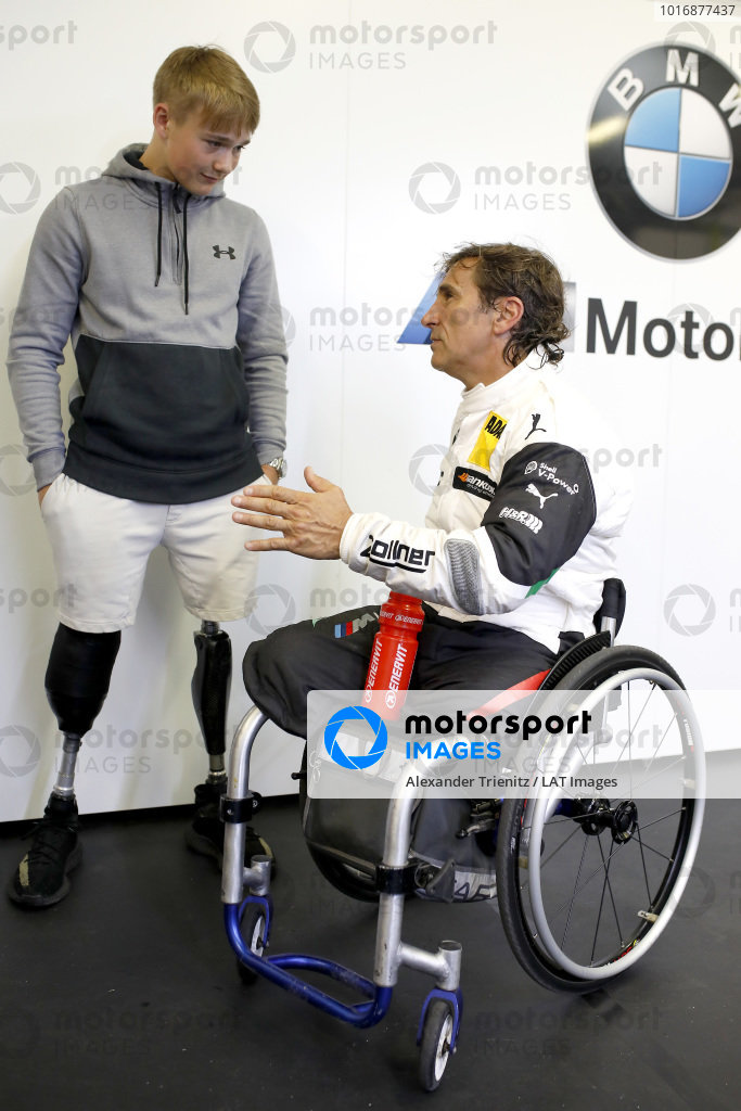 Billy Monger with Alex Zanardi, BMW Team RMR.