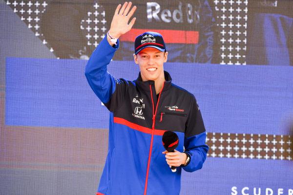 Daniil Kvyat, Toro Rosso at the Federation Square event.