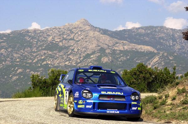 2001 World Rally Championship.Rallye de France, Ajaccio, Corsica, October 19-21.Richard Burns during shakedown.Photo: Ralph Hardwick/LAT