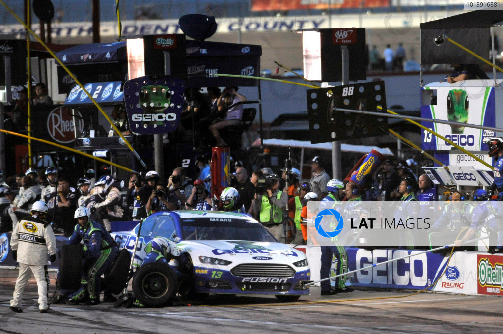 11-13 April, 2013, Fort Worth, Texas USA Casey Mears pit stop ©2013, Nigel Kinrade LAT Photo USA