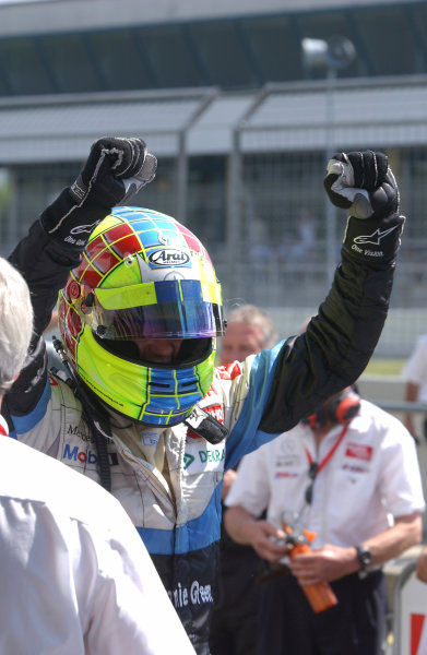 2004 Formula Three EuroseriesNurburgring, Germany. 31st July - 1st August 2004Race 2 winner Jamie Green (ASM Formule 3) celebrates.Wold Copyright : Andre Irlmeier / LAT Photographicref: Digital Image Only