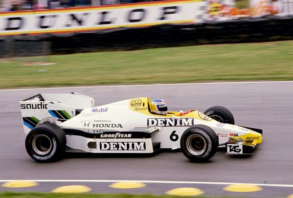1984 British Grand Prix.Brands Hatch, England.20-22 July 1984.Keke Rosberg (Williams FW09B Honda).Ref-84 GB 48.World Copyright - LAT Photographic