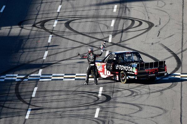 1-2 April, 2016, Martinsville, Virginia USA Kyle Busch (18) celebrates after winning. ©2016, John Harrelson / LAT Photo USA