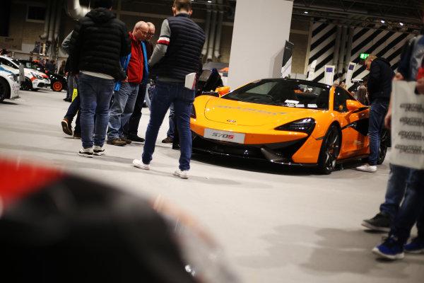 Autosport International Exhibition. National Exhibition Centre, Birmingham, UK. Saturday 13th January, 2018. A McLaren on display.World Copyright: James Roberts/JEP/LAT Images Ref: JR3_5659
