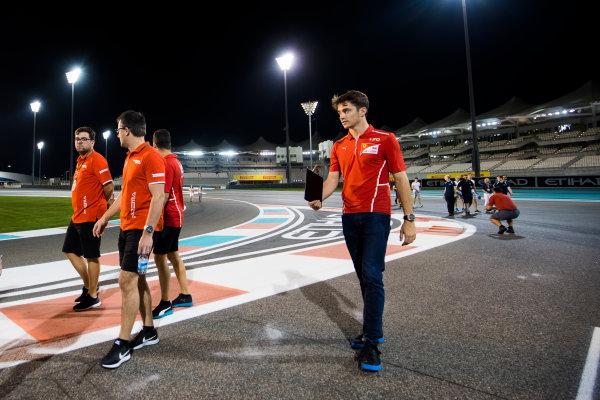 2017 FIA Formula 2 Round 11. Yas Marina Circuit, Abu Dhabi, United Arab Emirates. Thursday 23 November 2017. Charles Leclerc (MCO, PREMA Racing).  Photo: Sam Bloxham/FIA Formula 2. ref: Digital Image _W6I1801