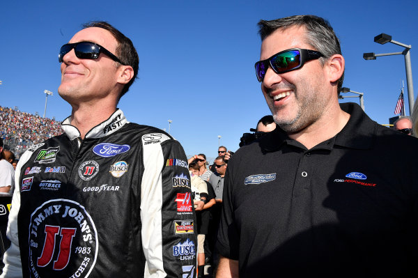 Monster Energy NASCAR Cup Series Ford EcoBoost 400 Homestead-Miami Speedway, Homestead, FL USA Sunday 19 November 2017 Kevin Harvick, Stewart-Haas Racing, Jimmy John's Ford Fusion and Tony Stewart World Copyright: Rusty Jarrett LAT Images
