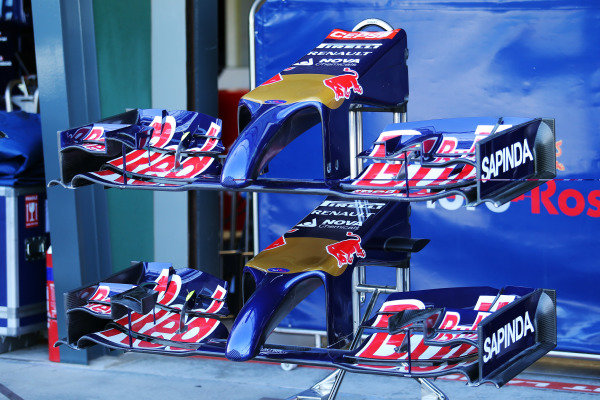 Scuderia Toro Rosso STR9 nose and front wings. Formula One World Championship, Rd1, Australian Grand Prix, Preparations, Albert Park, Melbourne, Australia, Wednesday 12 March 2014.