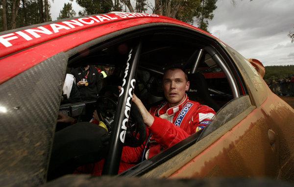 2003 FIA World Rally Champs. Round Ten Telstra Rally Australia 4th-7th September 2003.Richard Burns, Peugeot, portrait. World Copyright: McKlein/LAT