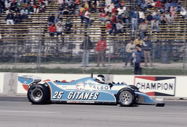 1981 United States Grand Prix West.Long Beach, California, USA.13-15 March 1981.Jean-Pierre Jarier (Ligier JS17 Matra).Ref-81 LB 40.World Copyright - LAT Photographic