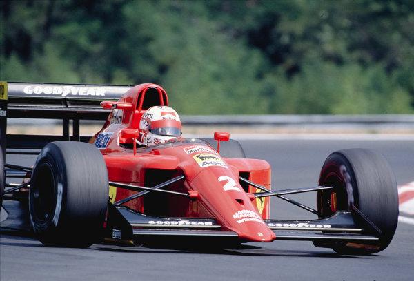1990 Hungarian Grand Prix.Hungaroring, Budapest, Hungary.10-12 August 1990.Nigel Mansell (Ferrari 641/2).Ref-90 HUN 10.World Copyright - LAT Photographic