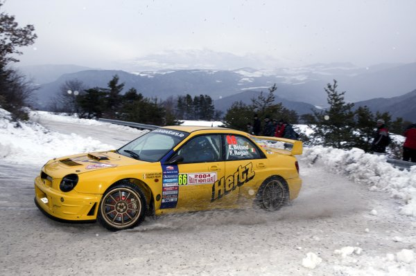 2004 FIA World Rally Champs. Round one, Monte Carlo Rally.22nd-25th January 2004.Eamonn Boland, Subaru, Action.World Copyright: McKlein/LAT