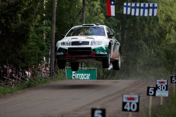 2004 FIA World Rally Champs. Round nine, Neste Rally Finland.5th - 8th August 2004.Armin Schwarz, Skoda, action.World Copyright: McKlein/LAT