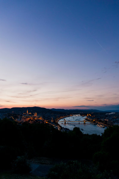 Hungaroring, Budapest, Hungary. Monday 5 June 2017. A view of the city and dusk. World Copyright: Zak Mauger/LAT Images ref: Digital Image _56I0571