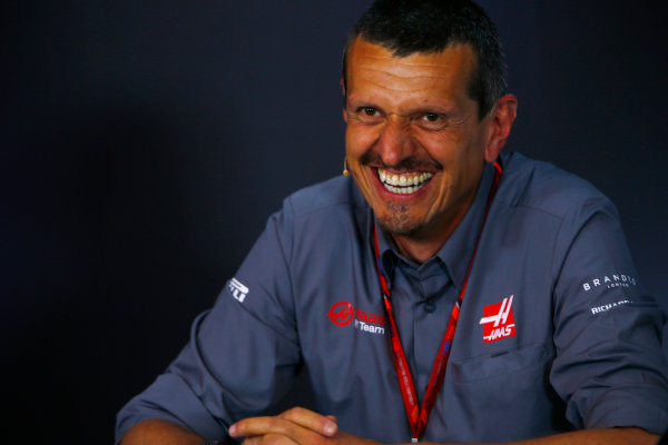 Red Bull Ring, Spielberg, Austria. Friday 07 July 2017. Guenther Steiner, Team Principal, Haas F1, in the Friday press conference. World Copyright: Andy Hone/LAT Images ref: Digital Image _ONY0064