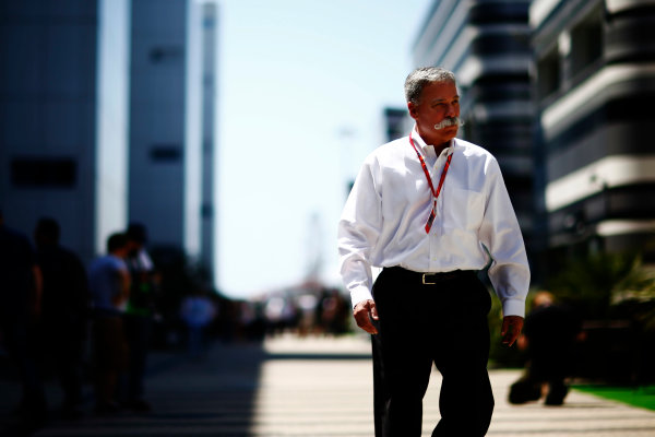 Sochi Autodrom, Sochi, Russia. Sunday 30 April 2017. Chase Carey, Chairman, Formula One World Copyright: /LAT Images ref: Digital Image _ONZ1564
