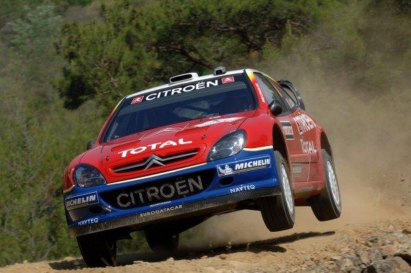 2005 FIA World Rally Championship, Rally of Turkey, June 2-5, 2005Kemer, Turkey.ShakedownSebastien Loeb (FRA) in action on the shakedown stage.Digital Image