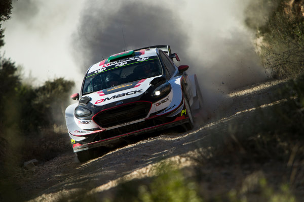 2017 FIA World Rally Championship, Round 11, Rally RACC Catalunya / Rally de España, 5-8 October, 2017, Elfyn Evans, Ford, action Worldwide Copyright: LAT/McKlein
