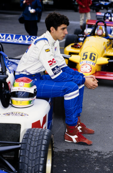 1996 Formula Vauxhall Championship. Justin Wilson, Paul Stewart Racing, portrait. World Copyright: LAT Photographic.