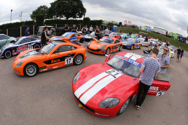 2015 Ginetta Junior Championship,  Snetterton, 8th-9th August 2015. Assembly Area World copyright. Jakob Ebrey/LAT Photographic
