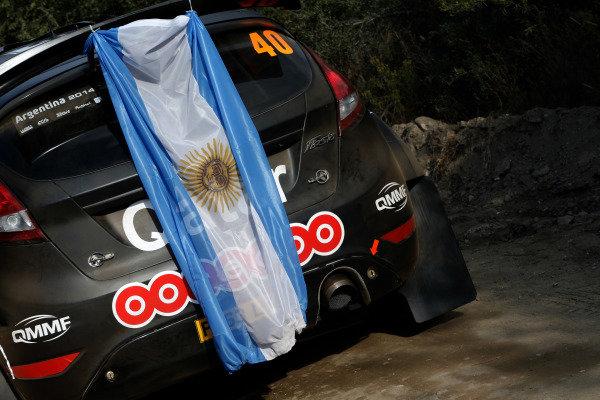 Nasser Al-Attiyah (QTR) / Giovanni Bernacchini (ITA), Ford Fiesta R5. FIA World Rally Championship, Rd5, Rally Argentina, Preparations and Shakedown, Cordoba-Villa Carlos Paz, Argentina, 8 May 2014.